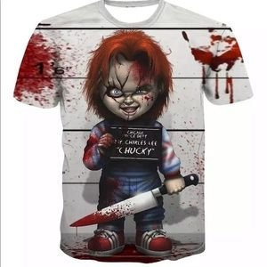 CHUCKY T SHIRT FRIENDS TO THE END UNISEX NEW
